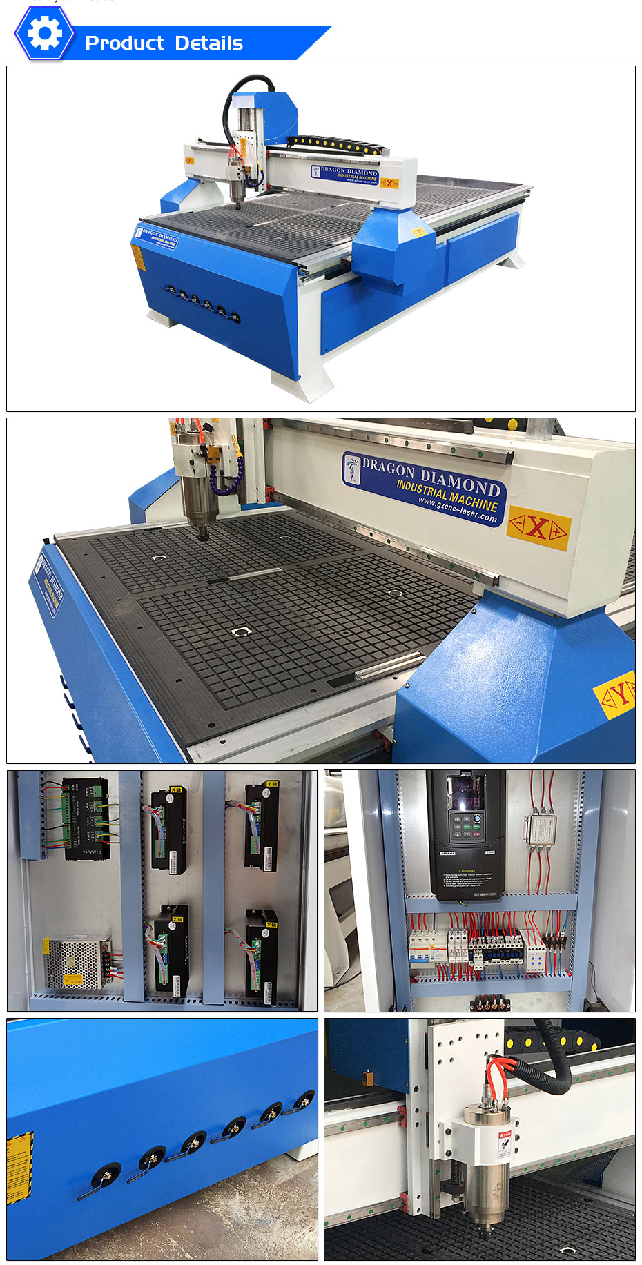 1325 CNC Furniture Cutting Engraving Machine with Vacuum Table